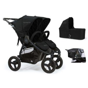 Bumbleride Indie Twin 2 in 1 Matte Black (Stroller Carrycot Raincover)