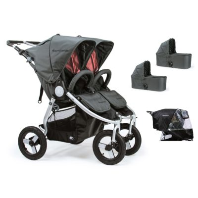 Bumbleride Indie Twin 2 in 1 Plus Dawn Grey Coral (Stroller Carrycots Raincover)
