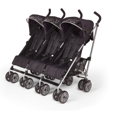 Kids Kargo Citi Elite Black Triple Stroller