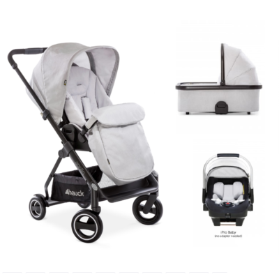 Hauck Apollo 3 in 1 Travel System Bundle - Lunar