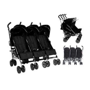 Kids Kargo Citi Elite Triple Stroller - Black