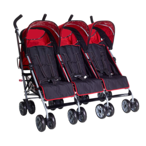 Kids Kargo Citi Elite Triple Stroller - Red