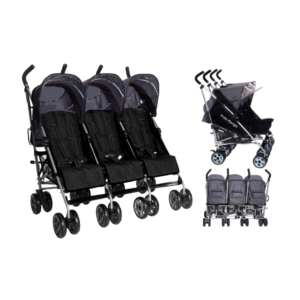 Kids Kargo Citi Elite Triple Stroller - Silver