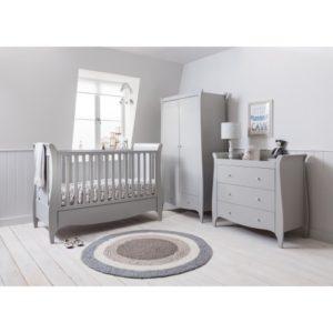 tutti bambini roma 3 piece nursery room set dove grey