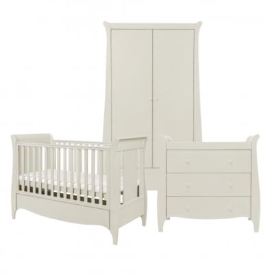 tutti bambini roma 3 piece nursery room set linen