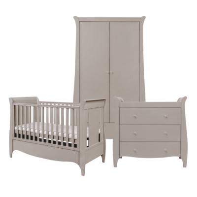 tutti bambini roma 3 piece nursery room set truffle grey