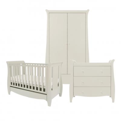 tutti bambini roma mini space saver 3 piece nursery room set linen