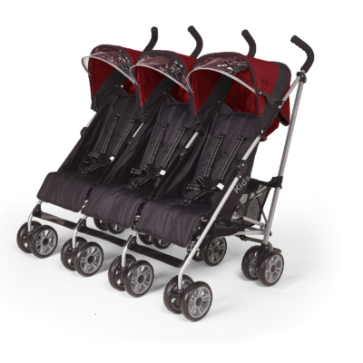 Kids Kargo Citi Elite Red Triple Stroller