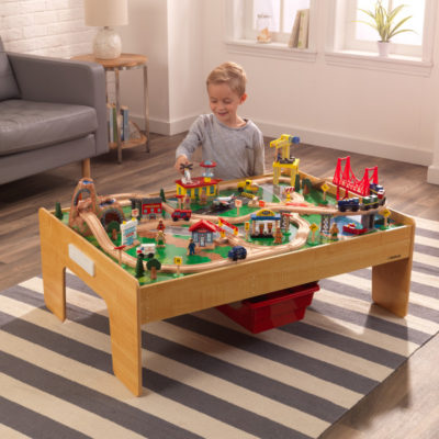Kidkraft Adventure Town Railway Train Set & Table1