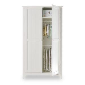 belton double wardrobe white