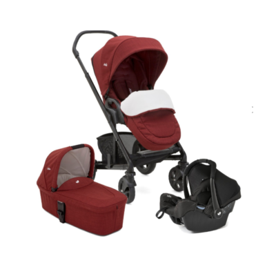 Joie Chrome DLX Gemm Travel System - Cranberry