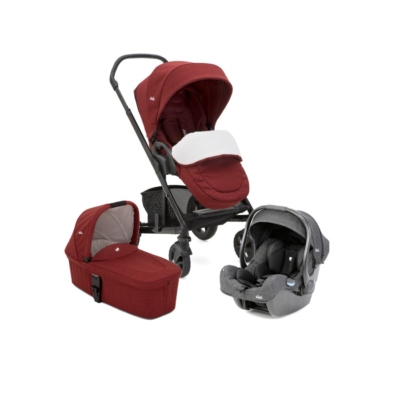 Joie Chrome DLX i-Gemm Travel System - Cranberry
