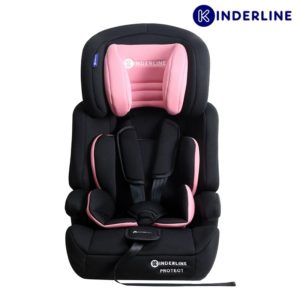 kinderline comfort car seat group 1,2,3, light pink
