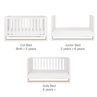 tutti bambini rimini cot bed 3 images gloss white 800