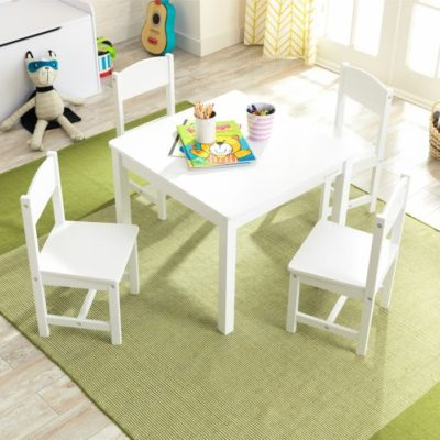 Kidkraft Farmhouse Table & 4 Chairs Set - White7