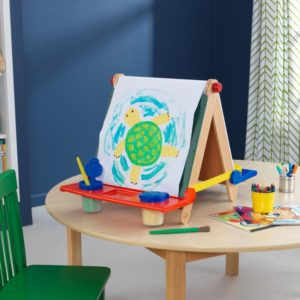 Kidkraft Table Top Easel - Natural With Primary1