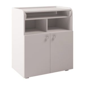 Kudl Kids, Changing Board Cupboard with Storage 1270 - White