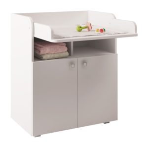 Kudl Kids, Changing Board Cupboard with Storage 1270 - White1