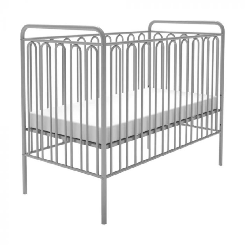Kudl Kids, Vintage Metal Baby Cot 150 - Silver1