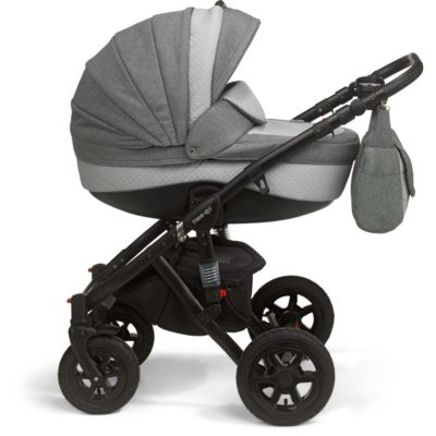 Mee-go Milano Black Sports Chassis Dove Grey Pram