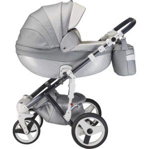 Mee-go Milano Special Edition Silver Charm Pram