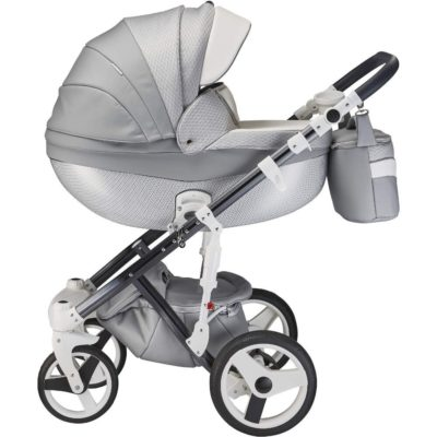 Mee-go Milano Special Edition Silver Charm Pram