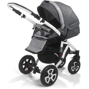 Mee-go Milano White Sports Chassis Dove Grey Pushchair