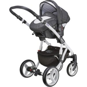 Mee-go Milano White Sports Chassis Osprey Car Seat