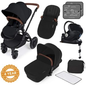 Stomp V3_i-Size_All in One with Isofix_ Black Frame_Black_001 complete set