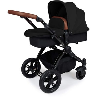 Stomp V3_i-Size_All in One with Isofix_ Black Frame_Black_Pram