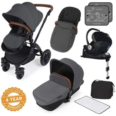 Stomp V3_i-Size_All in One with Isofix_Black Frame_Graphite Grey Graphite Grey