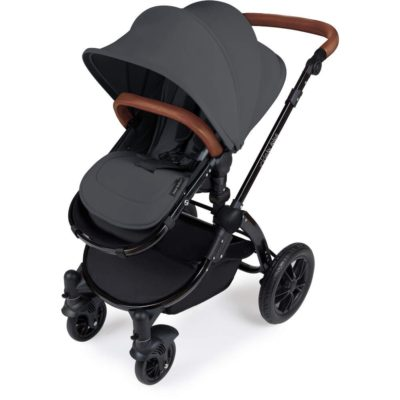 Stomp V3_i-Size_All in One with Isofix_Black Frame_Graphite Grey Stroller