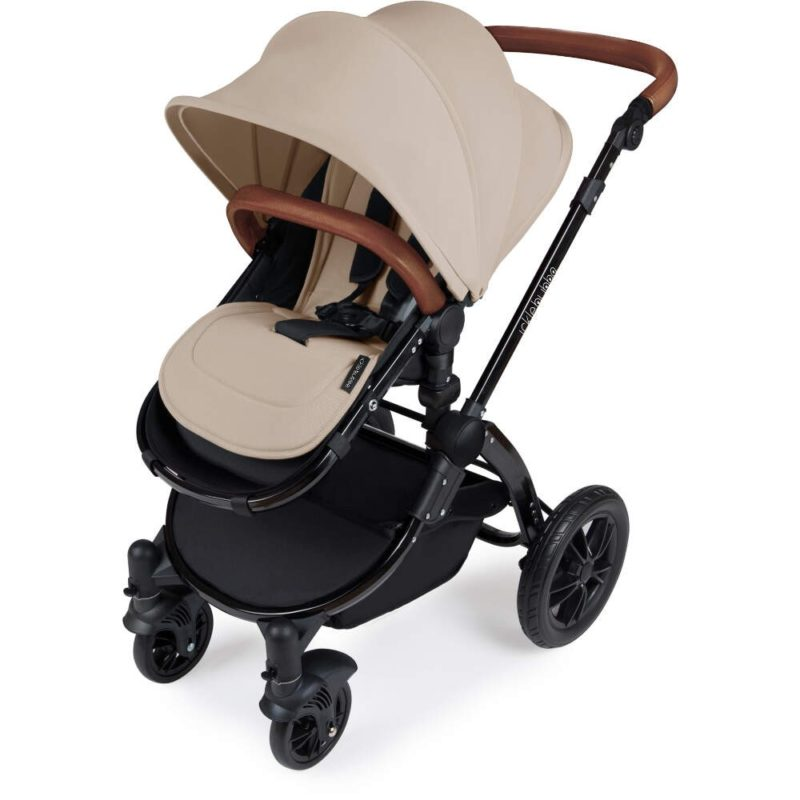 Stomp V3_i-Size_All in One with Isofix_Black Frame_Sand Pushchair