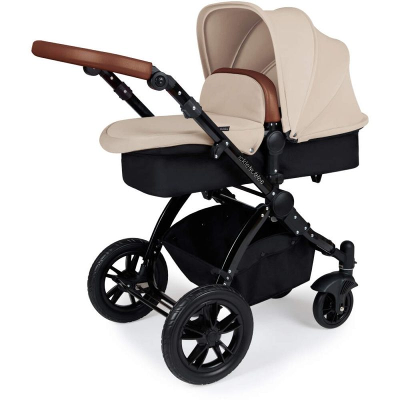 Stomp V3_i-Size_All in One with Isofix_Black Frame_Sand_Pram