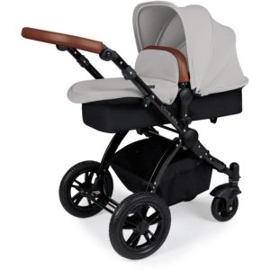 Stomp V3_i-Size_All in One with Isofix_Black Frame_Silver_Pram