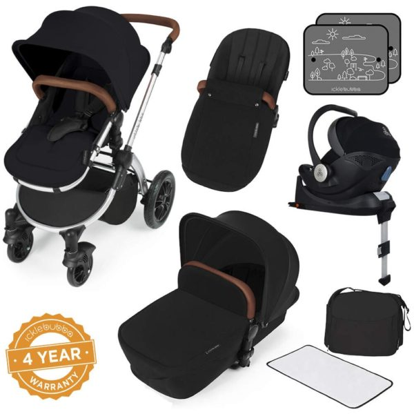 Stomp V3_i-Size_All in One with Isofix_Silver Frame_Black_001