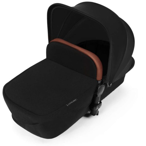Stomp V3_i-Size_All in One with Isofix_Silver Frame_Black_carrycot