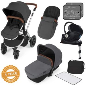 Stomp V3_i-Size_All in One with Isofix_Silver Frame_Graphite Grey complete set