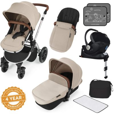 Stomp V3_i-Size_All in One with Isofix_Silver Frame_Sand complete set