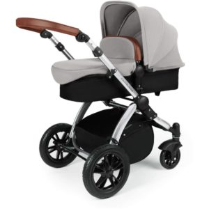 Stomp V3_i-Size_All in One with Isofix_Silver Frame_Silver Pram