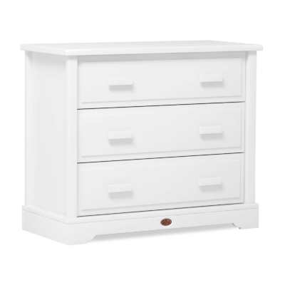 Boori 3 Drawer Dresser with Squared Changing Unit - Barley White