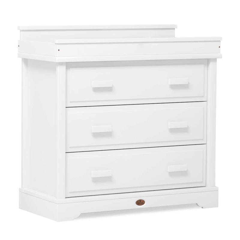 Boori 3 Drawer Dresser with Squared Changing Unit - Barley White