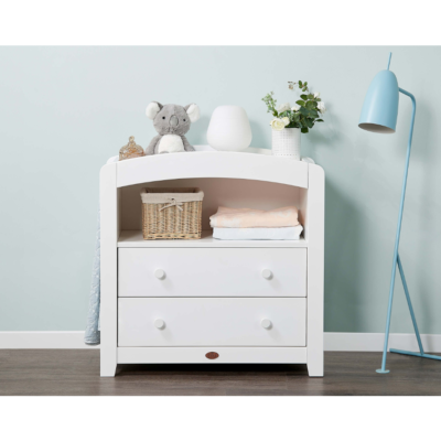 Boori Curved 2 Drawer Chest Changer - Barley White