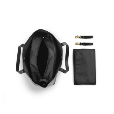 Elodie Details Leather Changing Bag - Black Edition