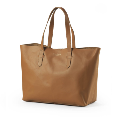 Elodie Details Leather Changing Bag - Chestnut Edition