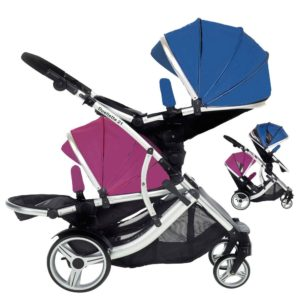 Kids Kargo Duellette BS Tandem - Blueberry/Raspberry