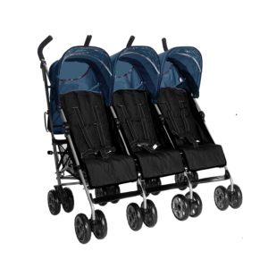 Kids Kargo Citi Elite Triple Stroller - Blue