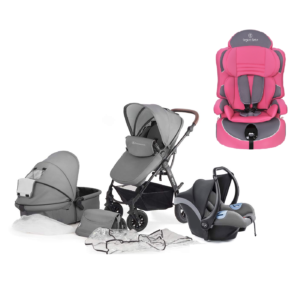 Kinderkraft Moov Travel System and 2nd Stage Car Seat - Cool Grey