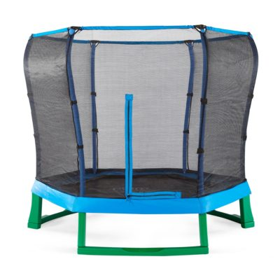 Plum Junior Jumper Trampoline and Enclosure 7ft - Green/Blue