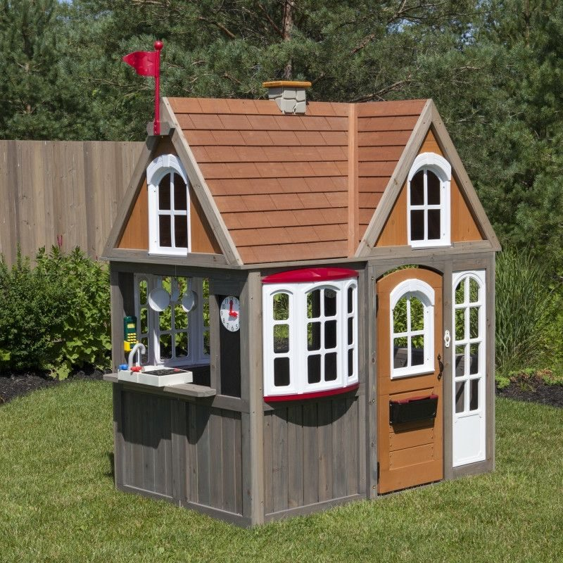 KidKraft Greystone Cottage Playhouse4
